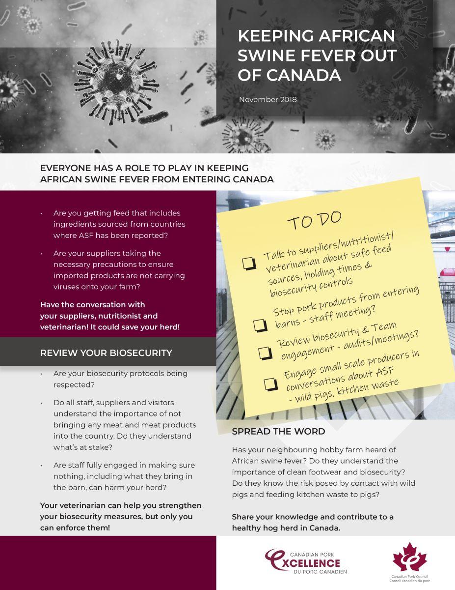 ASF Resources - Printables | Canadian Pork Council